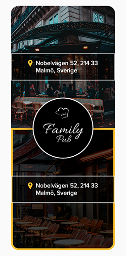 Family Pub - First page - Mobile
